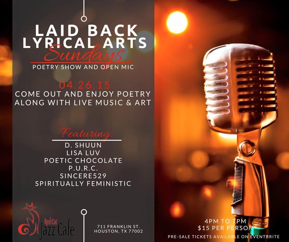 Laid Back Lyrical Arts Sunday