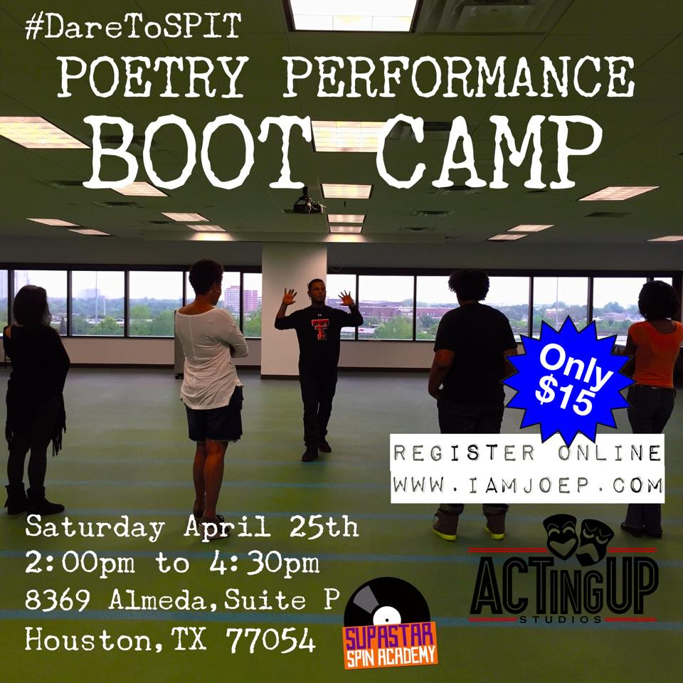 Dare to Spit Poetry Performance Boot Camp