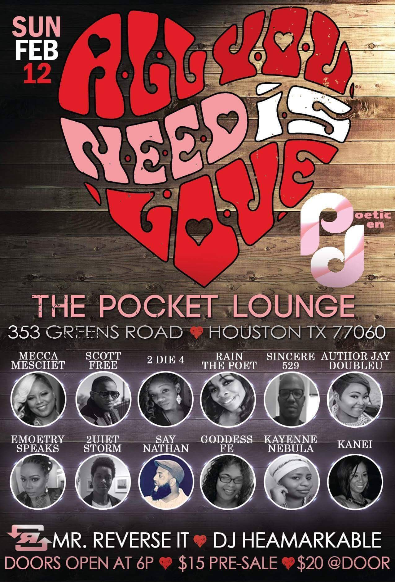 Poetic Den Presents All You Need is Love
