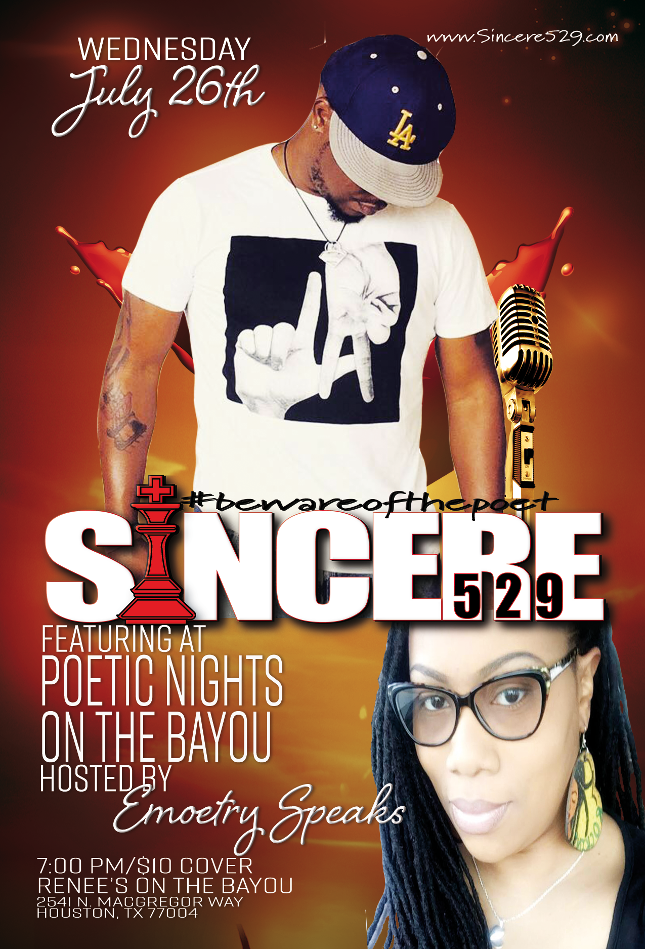 Sincere529 at Poetic Nights on the Bayou